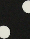 Italian ivory on black dot silk satin