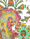 Italian paisley panel motif print silk satin blouseweight