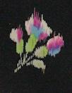 CA designer pretty blossoms silk crepe de chine