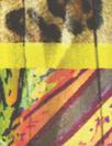 Italian dramatic lily/leopard panel silk chiffon