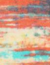 Italian spice/turquoise abstract silk satin chiffon