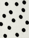 famous designer silk crepe de chine - black dot on cream
