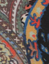 NY designer floral paisely silk crepe de chine