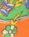 Ra1ph Lauren clementine/lime paisley silk georgette
