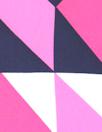 NY designer navy/pink chevron silk CDC