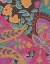 famous designer panel silk CDC - choc/violet