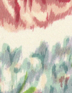 NY designer vintage-style floral silk charmeuse