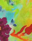 Italian silk charmeuse - flowery dream