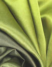 Caroline C0nstas stretch silk charmeuse - greens ombre