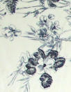 NY designer delicate blue floral silk charmeuse