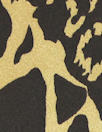 NY designer chocolate/gold animal print silk charmeuse