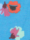 Rebecca Tayl0r 'painted flowers on sky' silk chiffon