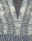 Italian earthy, stripey graphic satin face chiffon