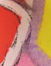 famous designer graffiti border silk satin face organza