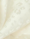 NY designer silk jacquard - ivory on ivory cheetah 1 yard