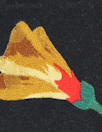 NY designer vintage silk jacquard - golden petals