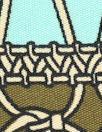 NY designer silk jersey - macrame' panel