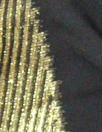 Derek L@m gold metallic selvage silk sheer - black