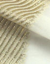 Derek L@m gold metallic selvage silk sheer - cream