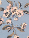 NY designer dusty blue/blush floral silk CDC