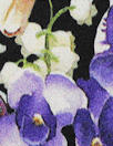 NY designer 'glorious garden' silk stretch charmeuse