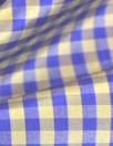NY designer indigo/olive gingham check silk taffeta
