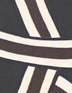 Italian designer silk twill woven - interlocking graphic