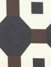 Italian designer silk twill woven - octagon graphic