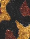 lush rayon/silk velvet - stylized leopard