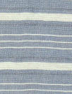 Italian viscose/silk yarn dyed voile - chambray/ivory stripe
