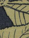 Italian silk woven - navy/khaki leaf motif