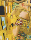 Dutch digital 'Klimt's The Kiss' cotton/lycra knit panel