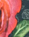 Dutch digital rose border cotton/lycra knit panel