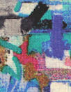 Dutch digital 'painterly abstract' viscose/lycra knit