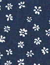 Dutch Oekotex cotton poplin for masks - navy flowers
