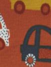 Dutch digital 'on the go' knit Oeko-Tex cert. - terracotta