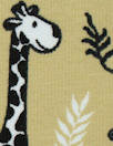 Dutch digital giraffes knit Oeko-Tex cert. - khaki