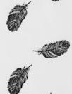 Dutch digital feathers cotton poplin - black on white 1.375 yds