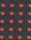 NY designer little flowers stretch brocade - red/black