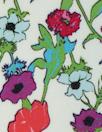 Italian light blue/violet floral cotton stretch woven 1.25 yds