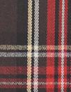 Italian stretch yarn dyed plaid - chocolate/deep red