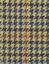 NY designer stretch yarn dyed plaid - camel houndstooth