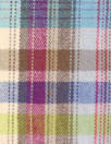 NY designer plum/olive yarn-dyed cotton stretch plaid