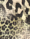 NY designer animal print montage silk stretch charmeuse
