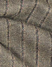 Italian all-wool reversible earthy stripe suiting