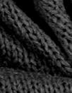 CA designer cotton sweater knit - black 1.4 yds
