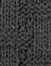 Italian 'basketweave' stitch sweater knit - black 1.75 yd