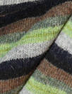 Italian wool blend, yarn-dyed fern/cocoa stripe sweater