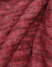 variegated yarn dye sweater knit - claret blend