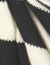 Sp1endid lightweight sweater knit - black/cream stripe